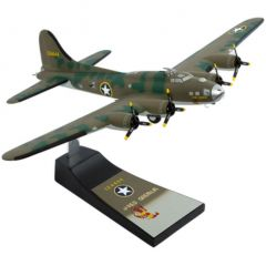 B-17f Red Gremlin 1/60 (AB17rgt) Mahogany Aircraft Model