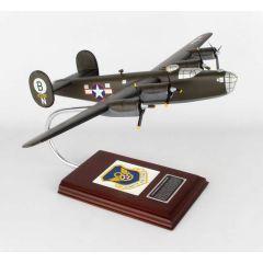B-24 D Liberator Olive 1/62 Hellsadropin II (AB24dts) Mahogany Aircraft Model