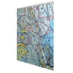 Custom U.S. Aeronautical Chart Shower Curtain