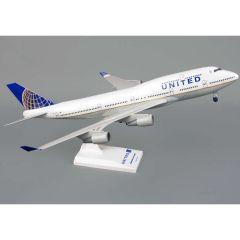 Skymarks United 747-400 1/200 W/Gear Post Co Merger