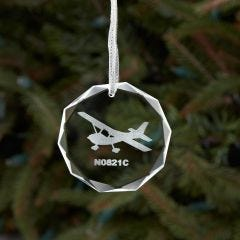 Personalized Crystal Aircraft Ornament
