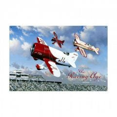The Racing Age Large Aviation Metal Sign