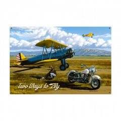 Two Ways To Fly Large Aviation Metal Sign
