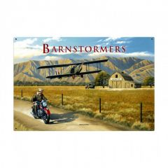 Barnstormer Large Aviation Metal Sign
