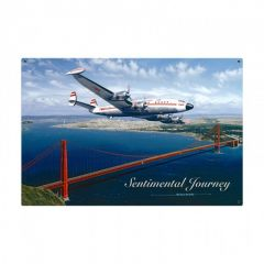 Sentimental Journey Large Aviation Metal Sign