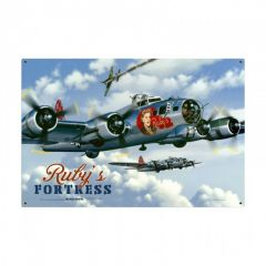 Rubys Fortress Large Aviation Metal Sign