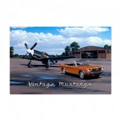 Vintage Mustangs Large Aviation Metal Sign