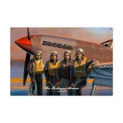 Tuskegee Airmen Large Aviation Metal Sign