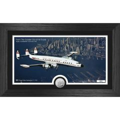 "TWA Super Connie ""Over New York"" Framed Print with Mint Coin"