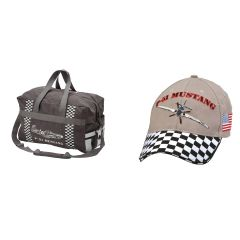 P-51 Mustang Duffel Bag and Cap Combo