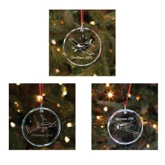 2018, 2019, and 2020 Sporty's Christmas Ornaments