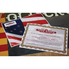 Take Stock in Pearl Harbor Personalized Deluxe Stock Certificate