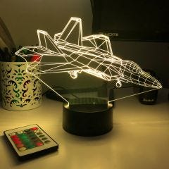 F-22A Raptor 3D Aircraft Color Changing Lamps