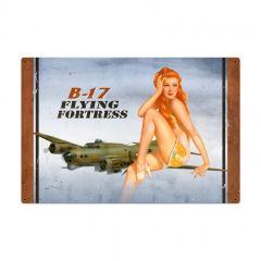 B17 Redhead Large Aviation Metal Sign