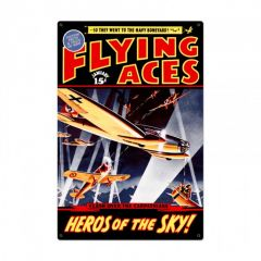 Flying Aces Large Aviation Metal SIgn
