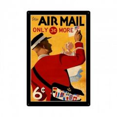 Air Mail Postage Stamp Large Aviation Metal Sign