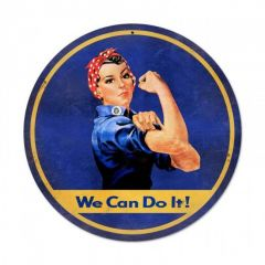 Rosie The Riveter Large Aviation Metal Sign