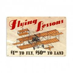 Flying Lessons Large Aviation Metal Sign