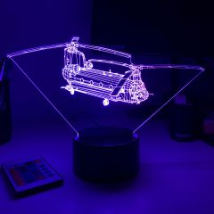 CH-47 Chinook 3D Aircraft Color Changing Lamps