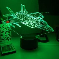 F-35 Lightning II 3D Aircraft Color Changing Lamps