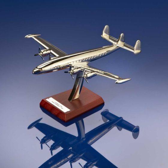 Office Desk Art Metal Aeroplane Plane Jet on Stand